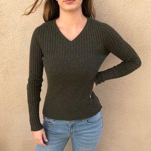 Wilkes Bashford 100% Cashmere V-Neck Sweater
